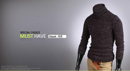 Wholesale Hot Sell New Men s Fashionable Warm Sweater Plush Rabbit Slim High Collar Bottoming Sweater