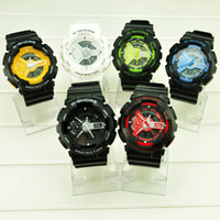 Wholesale G Shors Watch Waterproof LED Digital Quartz Sports Dual Movements Watches SH Via DHL