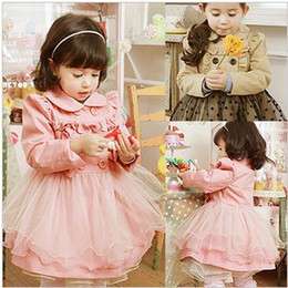 Wholesale Girls Knit Long Sleeve Dress Skirt Set fashion girls suits pink Khaki AUG50