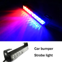 Best Car Strobe Lights 8 LED Flash Warning Police Firemen Auto Bumper Light BXG-8 Red And Blue