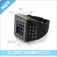 Wholesale AVATAR ET i Watch Mobile Phone MP Hidden Pin Hole Spy Camera Single Sim Card MP3 MP4 Bluetooth Watch Mobile Phone