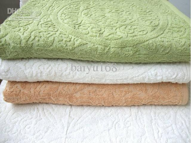 Luxury Large Jacquard Cotton Bath Towels Green Tan White Mix Face Towel  Hotel Towels From Baiyu168   1507 54  Dhgate Com. Luxury Large Jacquard Cotton Bath Towels Green Tan White Mix Face