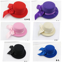 Wholesale many color Felt Mini Top Hat Fascinator base Women Millinery Party Hat