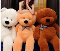 achat en gros de brun en peluche ours en peluche noir-100cm Teddy Bear Peluche White Light Brown et brun foncé En Stock