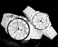 Wholesale pair fashion elegant white couples watch men and ladies watches