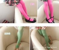 Wholesale Cheap sales Kids girls velvet children stretch pantyhose dance socks leggings candy multicolor