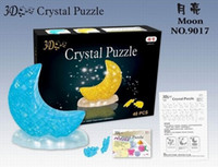 Wholesale Crystal moon D Puzzle Clear Colorful Flashing Jigsaw puzzle Toy