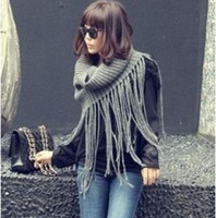 Wholesale Fashion ladies men scarf tassels collar temperament crochet shawl knitting wool scarves colors