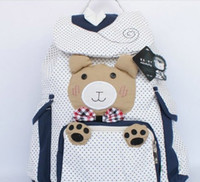 Wholesale kawaii cute lovely bear backpack student school bag canvas bags colors