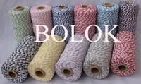 Wholesale 11pcs Cotton Baker twine kinds color double color twine gold twine by
