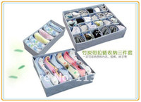 Wholesale pieces a set foldable box Bamboo Charcoal fibre Storage Box C411