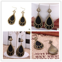 Wholesale Bohemian Vintage Earrings Classical Hollow Out Big Drop Shape Dangle Chandelier Earrings J110