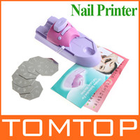 Wholesale Nail Art printer DIY Pattern Printing Manicure Machine Stamp Stamper Drawing Polish Kit set H8020