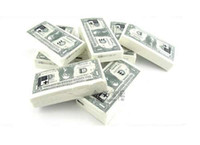 Wholesale US Dollar Money Note Tissue Toilet Napkin Paper Pad Roll US American USA V7072