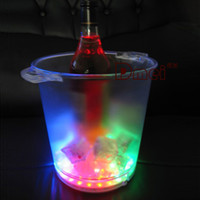 Ice Buckets & Tongs acrylic ice tongs - 30 bright LED colorful flash large ice bucket L extra thick acrylic bar party dedicated