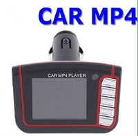 Wholesale 1 quot LCD Wireless Car MP4 MP3 Player FM Transmitter SD MMC USB Black Free HK post