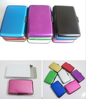 Wholesale 5pcs Aluminium wallet Credit card cases card holder bank card case aluminum wallet mix colors