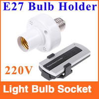 Wholesale E27 Screw M Remote Control Light Lamp Bulb Holder Cap E27 bases led light bulb socket
