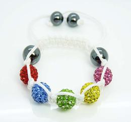 Hot Children Kids Baby Dazzling 10mm Disco Ball Crystal Bead Friendship Bracelet Children Bracelet 15pcs