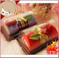 cake towel - Cake towel creative gift wedding gift swiss roll cake pure cotton towel hot sale mix order