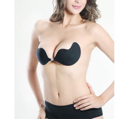 Wholesale 2013 New Arrival Nude Black Push Up Self Adhesive Bust Invisible Bra Sets Cup