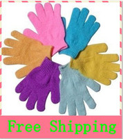 Wholesale Cloth Bath Mitt Exfoliating Gloves Cloth Scrubber Face Body Moisturizing Spa Skin Care