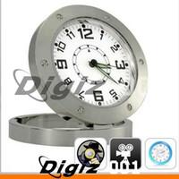Wholesale Motion Activated Clock Spy Camera Video Security Alarm CLOCK Spy Camera Clock Watch DVR Camcorder DGCA0167