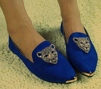 Wholesale Flat shoes Turquoise blue