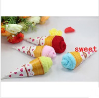 Wholesale Cake towel mini ice cream birthday gift valentine s day gift wedding gift mix order