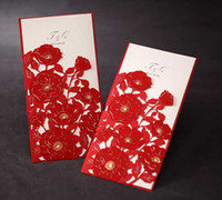 Invitation Cards Red Folded wedding cards. invitation cards,wedding invitation, come with envelope, Red Rose #6195