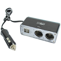 Wholesale USB Port Way Car Cigarette Lighter Socket Splitter Charger Adapter Rotatable