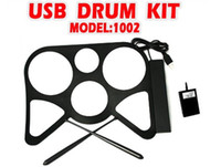 Wholesale 2012 Newest USB MIDI DRUM KIT MD1002 Musical instrument Portable MIDI Drum USB Drums