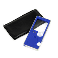 Wholesale New Mobile Phone Style LED Magnifier UV Detector Blue