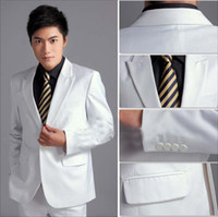 Cotton Autumn/Spring Regular handsome top quality hot men's suits white bridegroom wedding suits groom suits