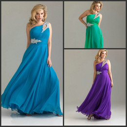 Wholesale Happy Ladies Plus Size Evening Dresses Formal One should Beaded Plus Size Prom Party Dress New