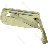 Wholesale 1pcs Travel Pouch Hidden Compact Security Money Waist Belt Bag Pocket