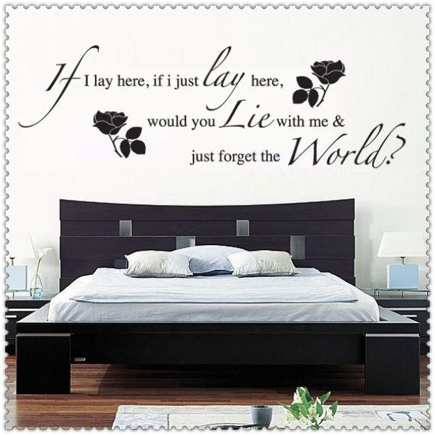 Wall Quotes For Bedroom Nice Design