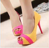 Wholesale New hot sale Sexy Special banquet peep toe stiletto princess heels sandals EU35