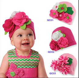 Wholesale Children girls cute ultra tide Headdress hat baby hat girls head flower cap luckymen