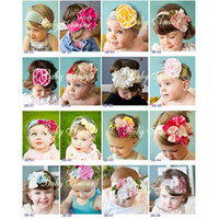 Wholesale baby headband baby hairbands infant hair tie flower girls head bands cotton Hair Accessories