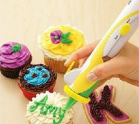 Wholesale Frosting Deco Pen for Foods Electric Cake Biscuit Pastry Icing Decoration Syringe Chocolate Pen
