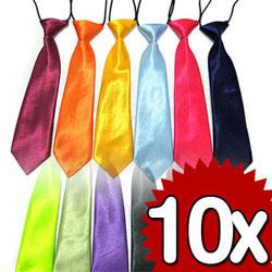 Wholesale Solids Plain Color Baby Child Boy Elastic Necktie Wedding Neck Ties