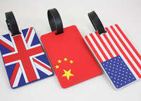 Wholesale FreeShip Soft PVC D National Flag Lage Claim Tag Travel Name Tag Card Tag Name Pocket Case