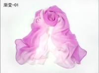 Wholesale Summer scarf chromophous spring and autumn silk scarf women s long design georgette sun cape
