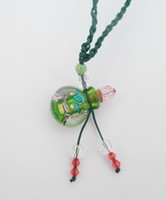 Wholesale Murano glass pendant Perfume bottle necklace Fashion Italian venetian D Art Lampwork glass jewelry