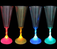 Wholesale NEW IN BOX LIGHT UP LED FLASHING Champagne WINE Champagne GLASS