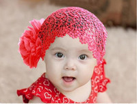 Wholesale Baby girls Hairband lace headbands super big two flowers pink white red for young girl mix oder