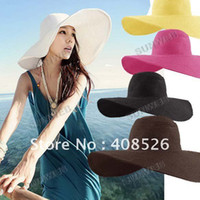 other other other 5pcs lot Fashion Jewelry Hollywood sexy lovely wide wire brim Summer Beach Sun Straw hat 3171