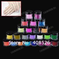 Wholesale 24PCS Colors Women s Make up Metal Shiny Glitter Dust Nail Art Tool Kit Acrylic UV Powder