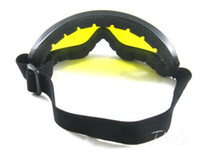 Wholesale NIGHT DAY VISION YELLOW LENS PROTECTIVE PADDED POLYCARBONATE GOGGLES SAFETY GLASSES